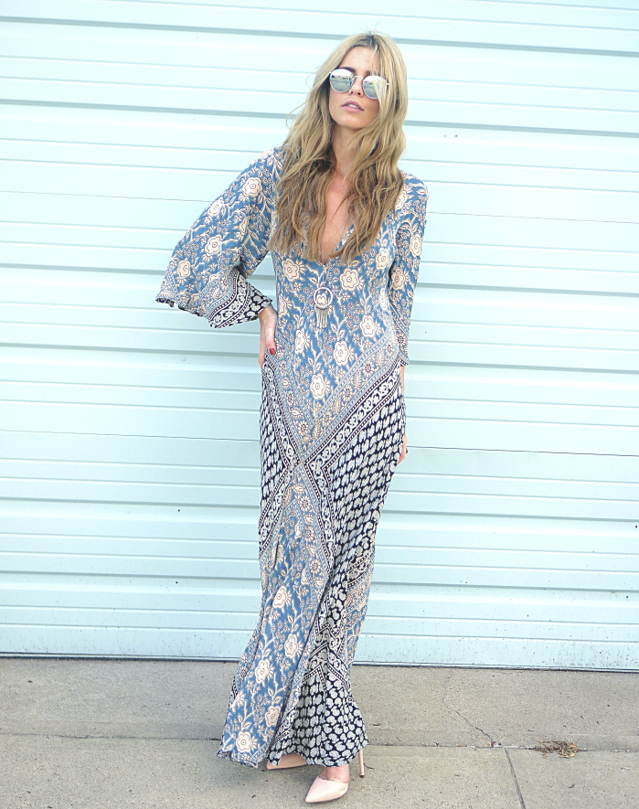 Printed Maxi Dress Festival Style
