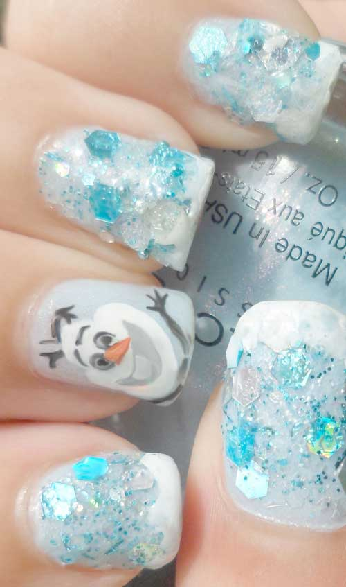 Nail Tutorial for DIY Frozen Olaf Fingernails – Ahbsessed