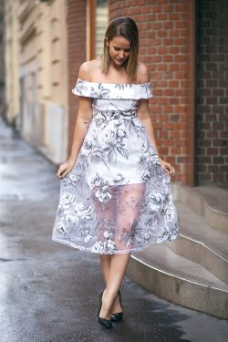 Vintage Shein Sheer Floral Dress