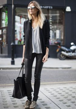 Black Plain High Waisted Fashion Long Pants