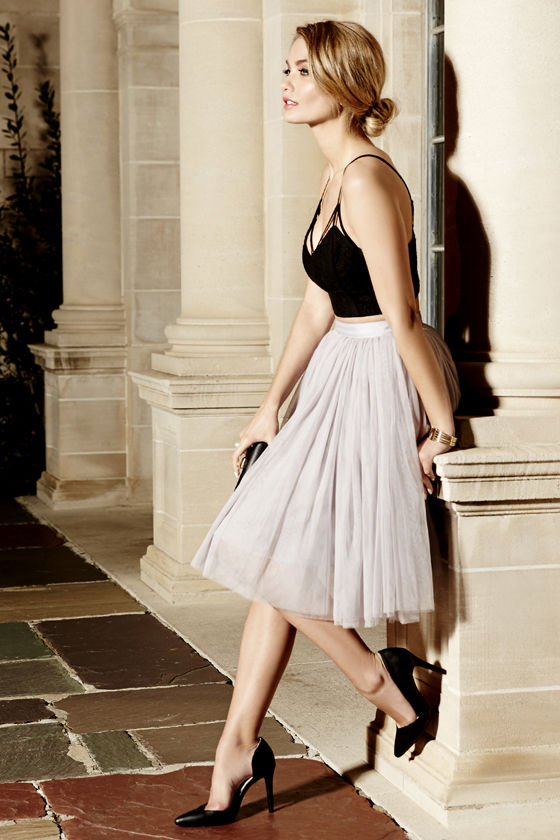 Cute Grey Skirt – Tulle Skirt – Ballerina Skirt
