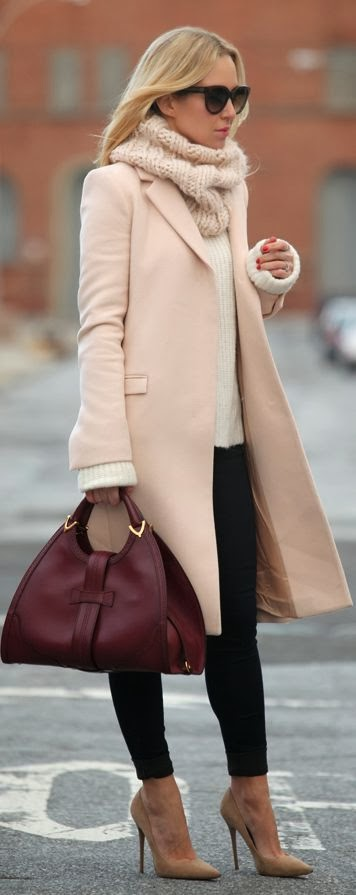 Women's Fashion: Blush pink winter coat