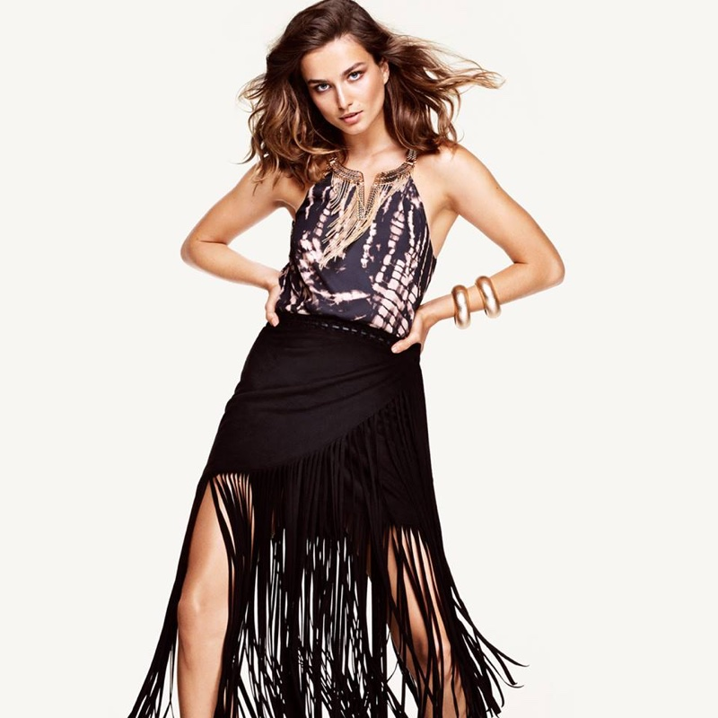 Andreea Diaconu is Bohemian Glam for H&M