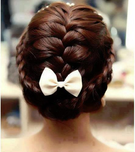 Pleasant Braided With Bow Hairstyles And Beauty Tips Glitz N Dirt Hairstyle Inspiration Daily Dogsangcom