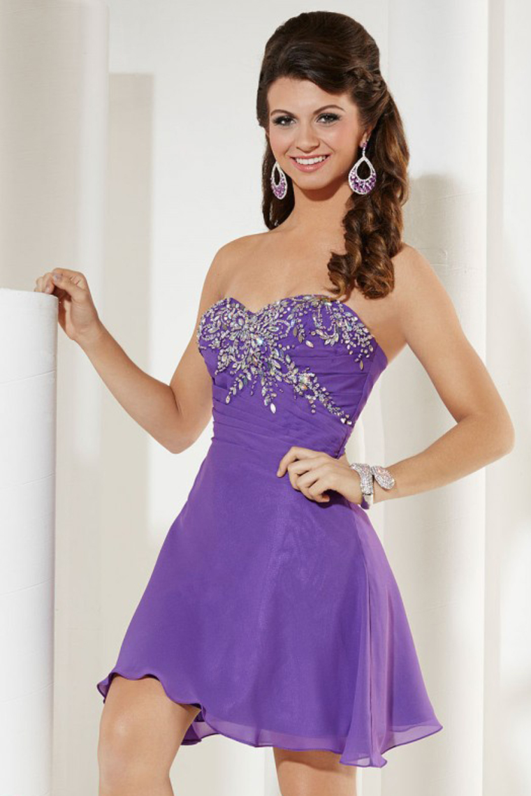 2015 Homecoming Dresses Sweetheart A Line With Beading And Ruffles Short – Wegodress.com