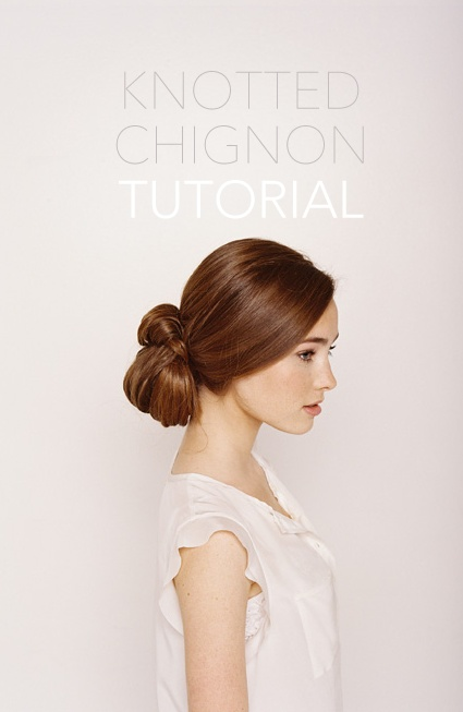 knotted-chignon-tutorial – Once Wed