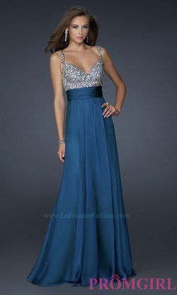 La Femme Prom Gown, Elegant Long Dress