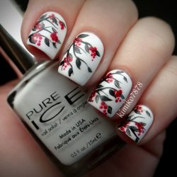 Nail Art with Rose Tulip Jasmine Flower Design – Womenitems.Com