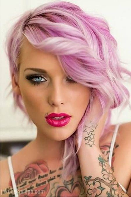 Short hairstyle  Pretty in Pink