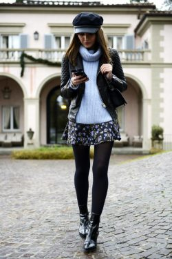 20 Stylish Ways to Style Black Tights for Perfect Winter Outfit – Style Motivation