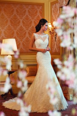 2015 Wedding Dresses Scoop Trumpet/Mermaid Chapel Train With Applique And Beads Tulle – We ...