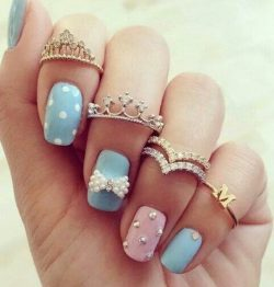 Nail Art Pink And Blue – Beauty Nails