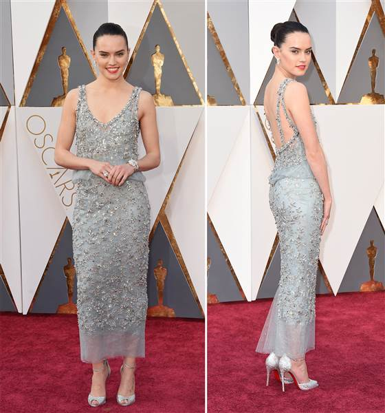 Oscars 2016 red carpet – Daisy Ridley