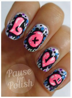 Pause For Polish: Love Graffiti Neon Nail Art!