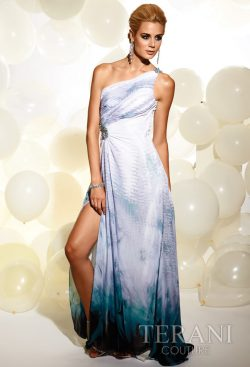 Terani Couture Sky Blue Long Prom Dress 623