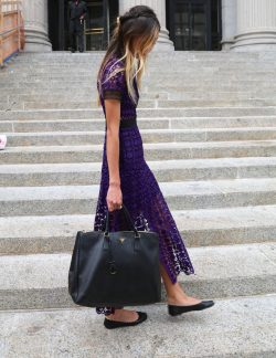 Royal Purple Lace Dress – The Wardrobes