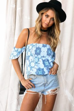 Strapless Cosmos Top