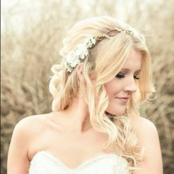 Bridal hair acessories cherry blossom flower by serenitycrystal