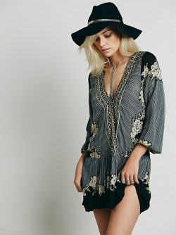 FP Collection Border Print Dropwaist Tunic at Free People Clothing Boutique