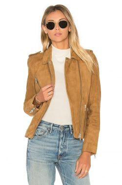 DOMA Chest Pocket Biker Jacket in Tan | REVOLVE