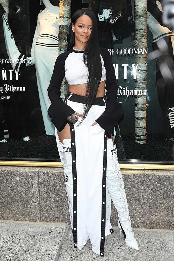 Rihanna attends Fenty Puma by Rihanna collection launch in New York