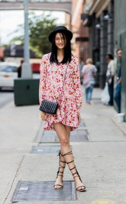 Qiwen Feng from Street Style at New York Fashion Week Spring 2017