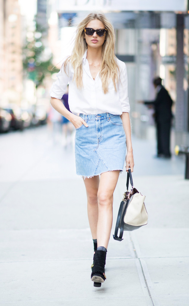 Romee Strijd from Street Style at New York Fashion Week Spring 2017