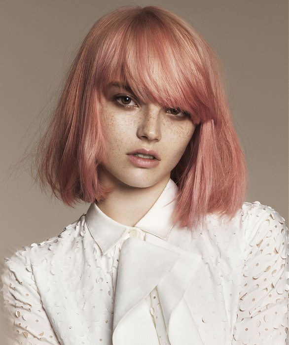 A Medium Blonde hairstyle From the Goldless Collection by Angelo Seminara