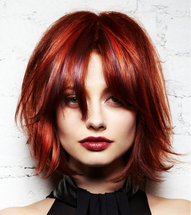 A Medium Red hairstyle From the L'ANZA NeoGlam Ice Collection by L'anza