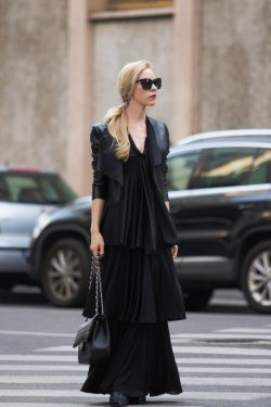 Milan Fashion Week Tiered maxi dress & Ermanno Scervino show