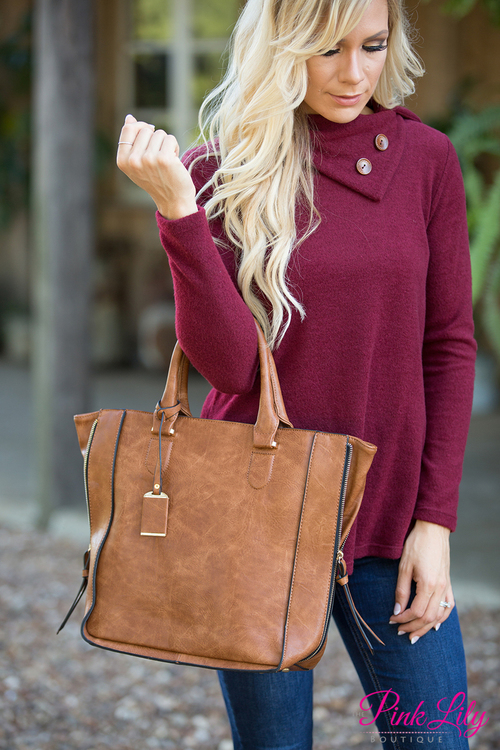 Right On Time Bag Brown  – The Pink Lily