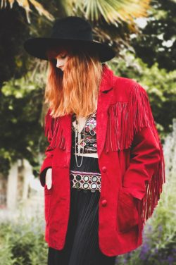 Another Vintage Suede Fringed Jacket – Fox & Feather
